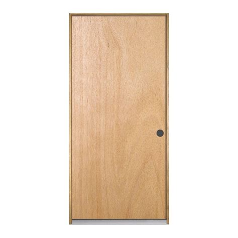 home depot interior wood doors jeld wen 32 in x 80 in hardwood unfinished flush solid
