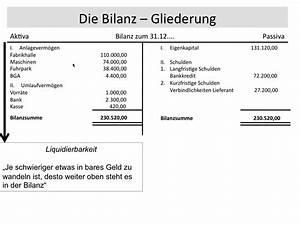 Liquidation Rechnung : bilanz bilanzgliederung gliederung reihenfolge struktur grundlagen buchf hrung fos bos ~ Themetempest.com Abrechnung