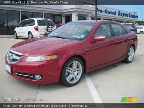 moroccan red pearl  acura tl  taupe interior