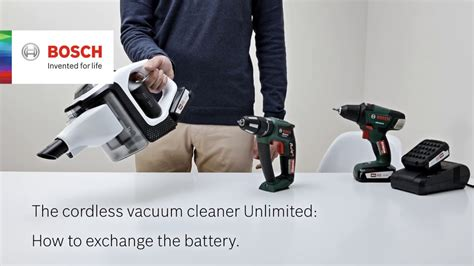 bosch unlimited test how do i change the battery of my bosch unlimited vacuum cleaner