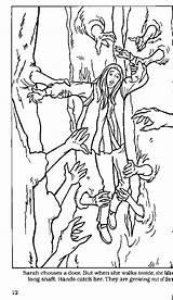 Labyrinth Coloring Door Knocker Ludo Sarah Template Topkleurplaat Kleurplaten sketch template
