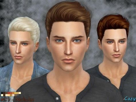 sims resource nicholas hairstyle  cazy sims