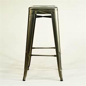 Barhocker Metall Holz : barhocker metall silberfarben industrial vintage hocker retro ~ Indierocktalk.com Haus und Dekorationen