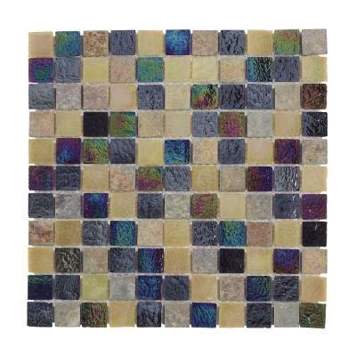 jeffrey court himalayan slate glass 12 in x 12 in wall