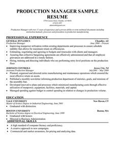 resume for production company production resume exles bestsellerbookdb