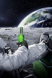 Outer Space Astronaut Beer Earth - Pics about space