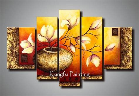 hand painted unframed abstract  panel canvas art