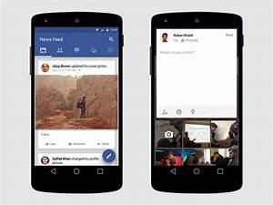 Facebook material design free psd freebiesbug for Facebook app template psd