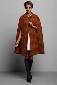 Vintage  U0026 39 70s Olivine Tweed Cape