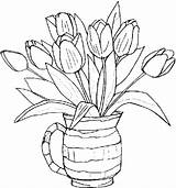 Coloring Pages Flowers Printable Clipart Flower Adult Library sketch template