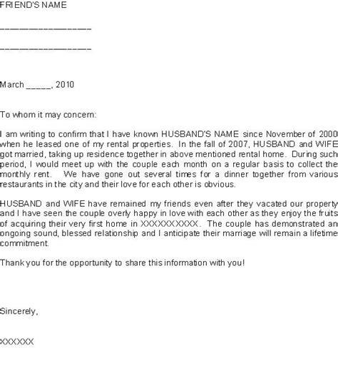 letter of affidavit i 751 sle affidavit of friends letter sle letters