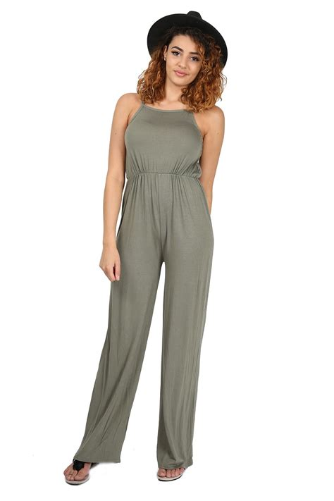 womens wide leg jumpsuit womens all in one cami wide leg palazzo playsuit