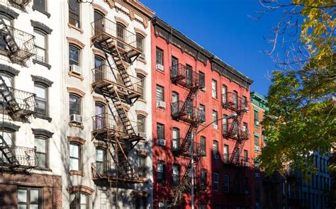 colorful apartment buildings stock image image of
