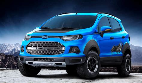ford crossover black ford ecosport gets a raptor like edition at sao paulo show