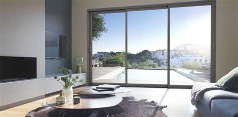baie coulissante 3 vantaux baie coulissante bois aluminium meo fabricant de baies vitr 233 es et fen 234 tres coulissantes