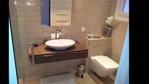 salle de bains ergonomique moderne youtube With idees petite salle de bain