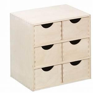 Caisson Tiroir Bois : caisson en bois 6 tiroirs zeller 13192 ~ Teatrodelosmanantiales.com Idées de Décoration