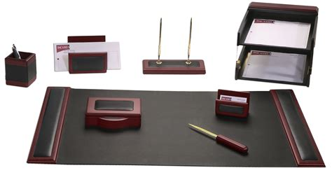 office and desk supplies d8020 rosewood leather 10 piece desk set