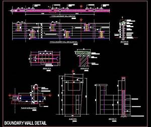 Contemporary design boundary wall plan n