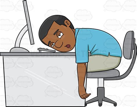 A Black Man Tired From Working On His Computer