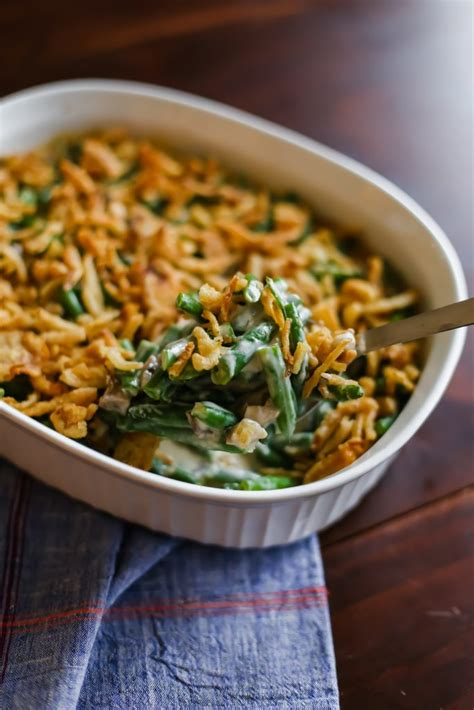 green bean casserole  fresh green beans