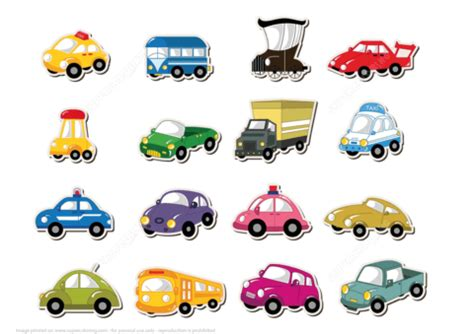 printable transport stickers  printable papercraft