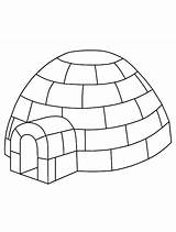 Igloo Coloring Outline Template Coloriage Sheet Eskimo Colouring Bulkcolor Bulk Sketch Drawing Sheets Excellent sketch template