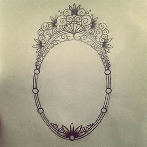 Unfinished mirror or frame tattoo design. | tattoos ...