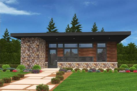 tiny modern home plan    bedrms  baths  sq ft