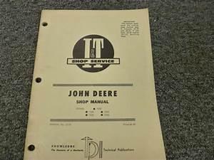John Deere 2020 2030 1020 1520 1530 Tractor Shop Service