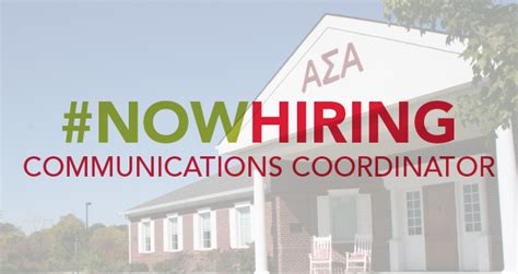 Communication Coordinator by Now Hiring For Communications Coordinator Alpha Sigma Alpha