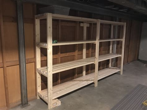 ana white quick basement shelves diy projects