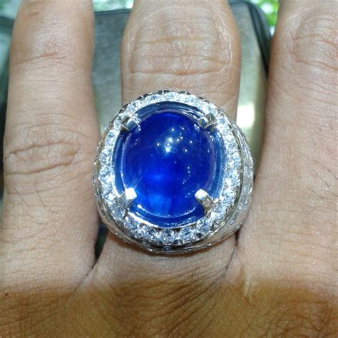 jual cincin pria blue safir afrika pilihan 0121 cincin dan