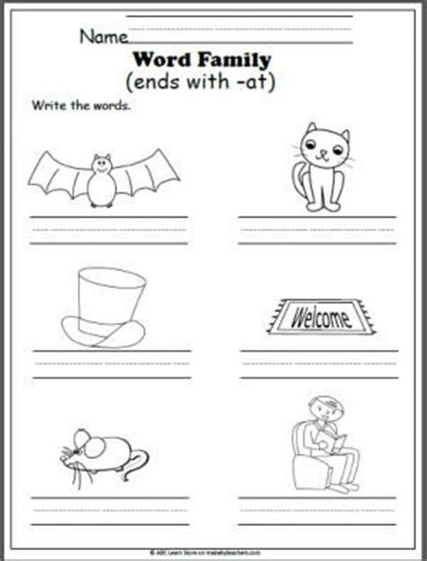 free word family at worksheet at the and write the cvc word ideas