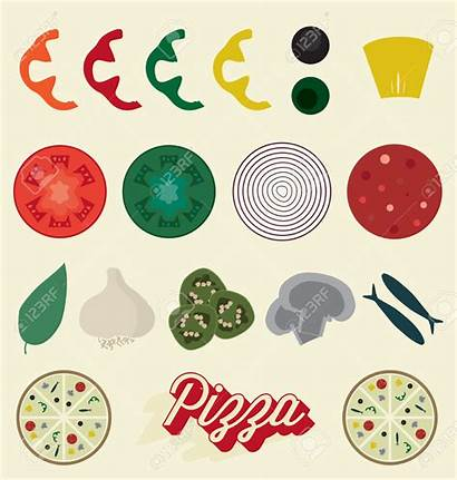 Pizza Toppings Topping Clipart Vector Illustration Icon
