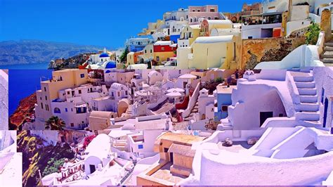 desktop wallpaper  santorini greece ololoshenka