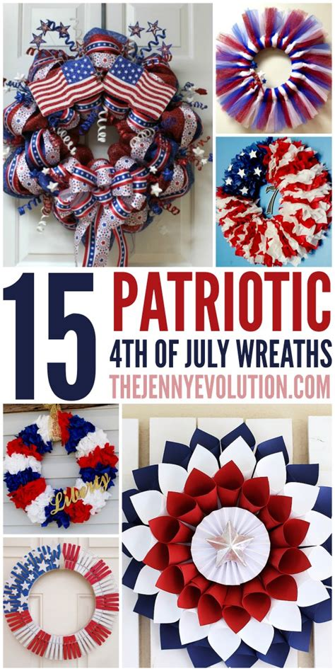 15 Diy 4th Of July Patriotic Wreaths  The Jenny Evolution