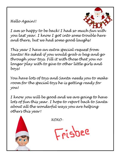 elf on the shelf letters printable free printable on the shelf letter template example 21466 | Elf on the Shelf Letter Template