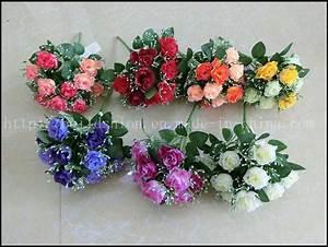 Flor artificial da decoração por atacado do casamento