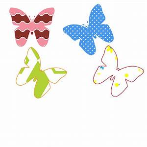 Colorful Butterfly Designs Clipart - ClipartXtras