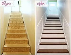 relooker un escalier avec un petit budget deconome With peindre des escalier en bois 3 metamorphoser un escalier poser des contremarches