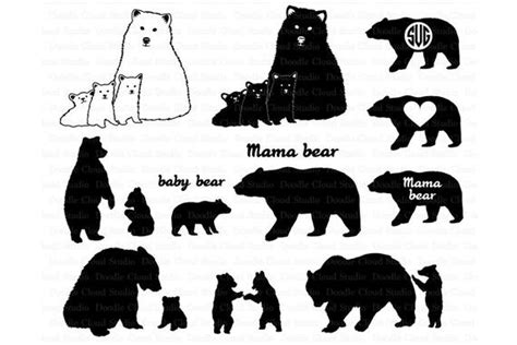With this graphic, you are limited only by your imagination. Bear SVG, Bear Family svg, Bears SVG files for Silhouette ...