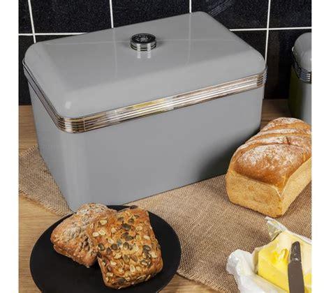 Buy SWAN Retro Bread Bin   Grey   Free Delivery   Currys