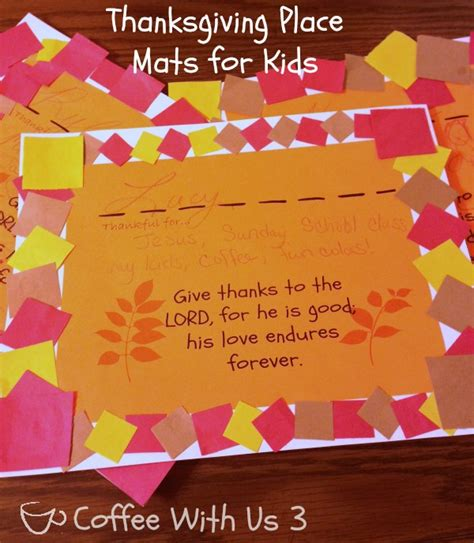 thanksgiving placemats for with printable coffee 403 | thanksgiving placemats for kids