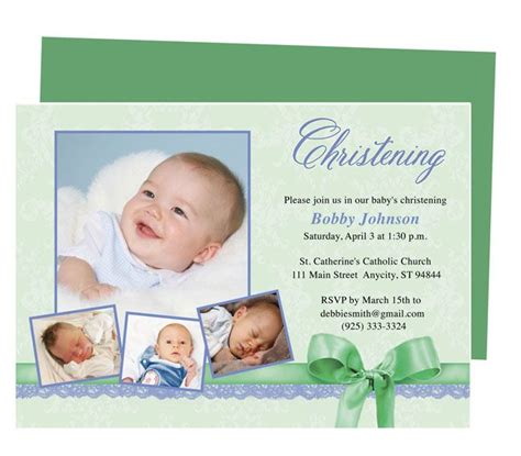Saint Baby Baptism Invitations Template Available in