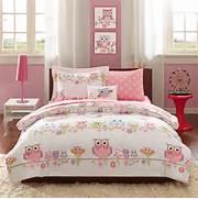 Pink Bedroom Set by Pink Owl Bedding Twin Or Full Comforter Set Bed In A Bag Comforter Sheets