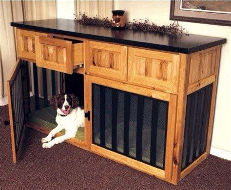 cabinet  built  dog crates love    home