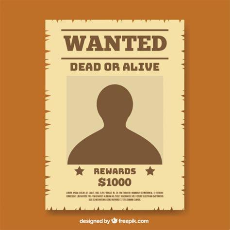 Wanted Poster Template Wanted Poster Template In Flat Design Vector Free