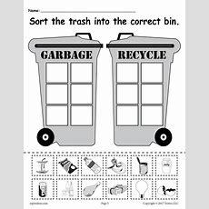 Sorting Trash  Earth Day Recycling Worksheets (4 Free Printable Versi Supplyme