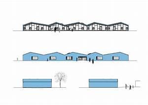 Nord West Ost Süd : blaue kita in monheim geneigtes dach bildung baunetz wissen ~ Markanthonyermac.com Haus und Dekorationen